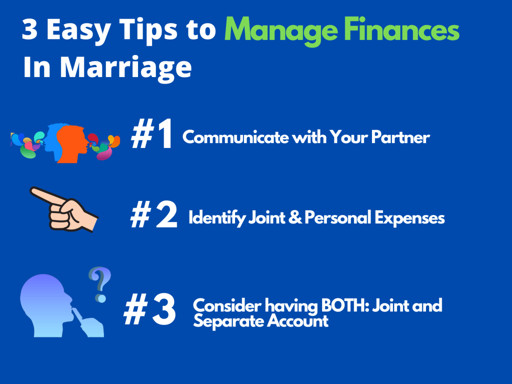 Manage finances in marriage communicate with your partner having joint and separate account