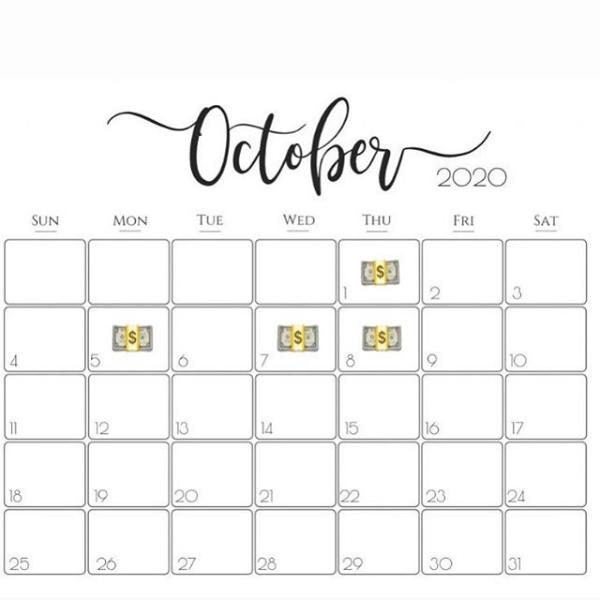 Create calendar schedule to schedule purchase