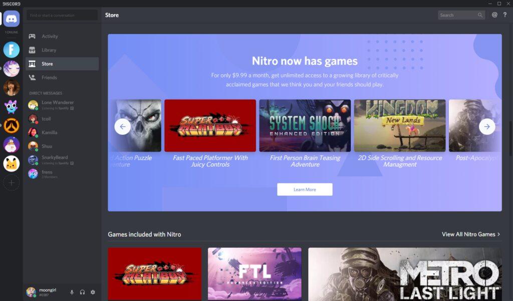 Discord earnings through Discord Nitro