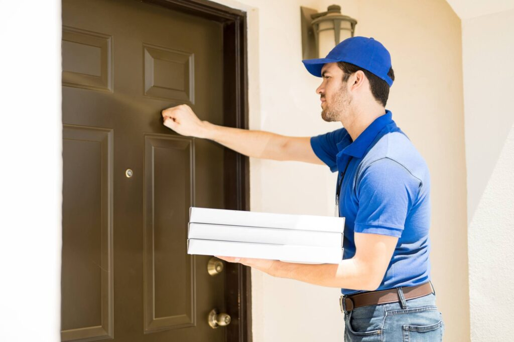 What if you don't open the door for a pizza delivery guy?